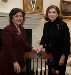 Sally Shaywitz and Audrey G. Ratner at the President's House